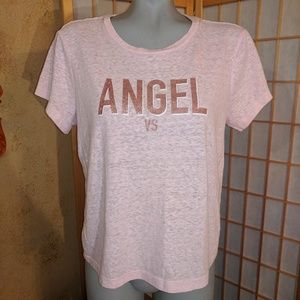 Pink Victoria's secret,  pink t shirt, large
